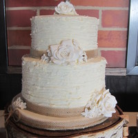 "Rustic Wedding Rustic wedding cake and 150 cake ""shooters"" in 3 different flavors"