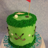 Golf Themed Birthday Cake Golf themed birthday cake