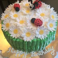 Fondant Daisies And Ladybugs Fondant daisies and ladybugs.