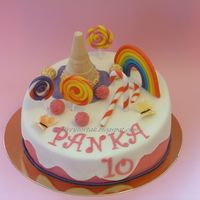 Lollipop Cake Made for a little girl who lives in her dreamworld with sweets, butterflies and rainbows.
