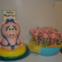 Pig And Cake Pop Cakes