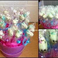 Unicorn Cake Pops Unicorn Cake Pops