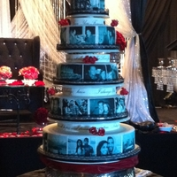 Edible Photo Wedding Cake edible photo wedding cake