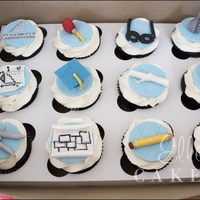Grad Cupcakes Cupcakes made for a grad who majored in Architecture and Chemistry!