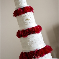 Elegant Lace Wedding Cake