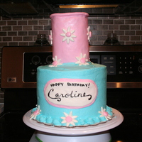 Nail Polish Cake This cake actually led me to this site; I was asked if I could make a cake similar to one posted on this site. It's a buttercream base...