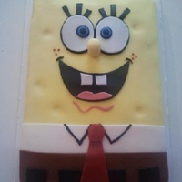 Spongebob Made this cake for my sons birthday. Chocolate sheet cake covered in fondant
