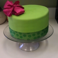 Green Birthday Cake Cake covered in green fondant