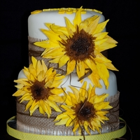Sunflower Cake Sunflower cake with gum paste flowers