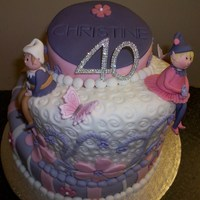 40Th Topsy Turvy Cake