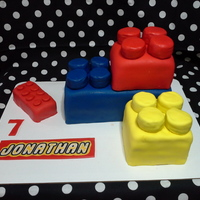 Lego Cake   Butter Cake with Vanilla Buttercream and Oreo Triple Double cookies wrapped in buttercream and fondant
