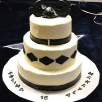 Black And White Sweet 16 Cake *