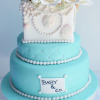 Tiffany And Co Baby Shower Cake Tiffany and co baby shower cake.