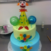 First Attempt At Blown And Pulled Sugarlittle Clown Cake first attempt at blown and pulled sugar...little clown cake