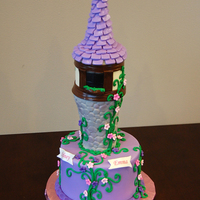 Rapunzel Tower Cake In Fondant Rapunzel tower cake in fondant.