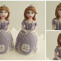Sofia The First Twin Cake Toppers.   Sofia the First cake toppers for a pair of fraternal twins!...