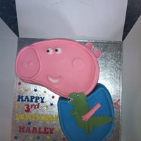 George From Peppa Pig George the pig from the kids tv show, i enjoyed making this one.