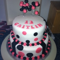 Spotty Cake This spotty cake i made for my niece, i enjoyed making this for her, she was really made up with it.