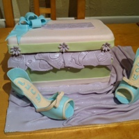 Shoe Box Cake This is my shoebox cake, lid chocolate mud, main box vanilla, shoes were hand made, i had a lot of fun making this