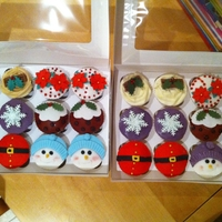 Xmas Cupcakes Xmas cupcakes made for my mother-in-laws works