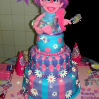 Abby Caddaby Cake This was my first attempt in making a birthday cake let alone a fondant cake. This cake was for my daughter's 1st birthday.