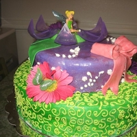 Tinkerbelle Cake my neices 4th bday cake