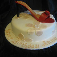 Red Stiletto Cake This was a birhday cake for a serious shoes enthusiast. The shoe is entirely eddible and painted with a combination of food colour and...