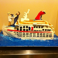 Cruise Ship Anniversary I made this cake for a 25th anniversary. The couple's honeymoon was spent on this ship. They are also notorious for their arguing,...