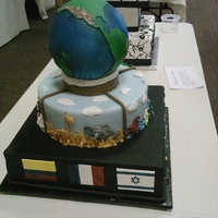 Earth Day Competition cake for KY Cake Society, theme was Earth Day, I won 2nd place in the advanced division