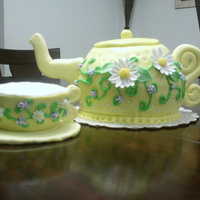 Tea Pot And Tea Cup Cake Tea Pot and Tea cup