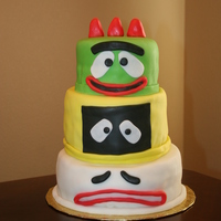 Yo Gabba Gabba Birthday Cake I got an order to make a Yo Gabba Gabba themed birthday cake for a client's son's 2nd birthday. And with only about 24 hours to...