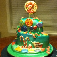 Candyland Cake Front view