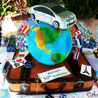 Sleeping Beauty Aurora Cake Happy Earth Day! That was one crazy cake! Bernie turned 50 and she loves traveling with her Prius, so I made a replica of her Hybrid car so...