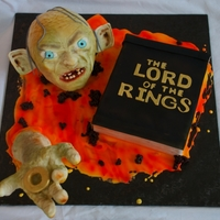 Lord Of The Rings, Gollum Cake This cake was inspired by one of the last scenes from the movie. Visit us on Facebook :) http://www.facebook.com/pages/Cakes-by-Tali/...