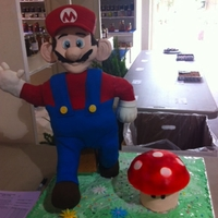 Super Mario Cake Hi there!This cake was made with a structure I made out of PVC (first time!). I really wanted to make a standing figure and I made it,...