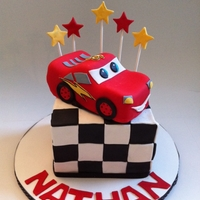 Lightning Mcqueen Cake car is made out of cake and covered with fondant. The cake is chocolate with chocolate buttercream :) Please, don't be a stranger and...