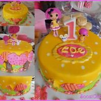 Zoe's 1St Birthday   Fondant and modelling chocolate. White choc mud cake. Lalaloopsy store bought figurines.