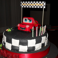 Cars Cake this cake was made for my 6 years old boy. He was so happy. Top with fondant.