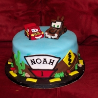 Cars Customer provided me with a picture and requested this cake! I'm sure it came from someone's website!