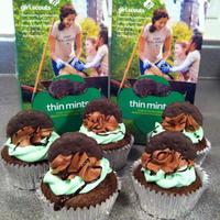 Thin Mint Inspired Cupcake Thin Mint inspired cupcake!