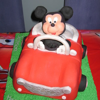 Mickey Mouse And His Toon Car