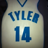 Tyler's 14Th Birthday Basketball jersey