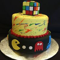 80's Themed Birthday Cake