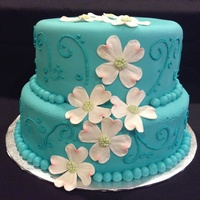 Dogwood Flower Birthday Cake