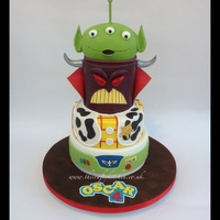 Toy Story Themed Birthday Cake. I made this cake for my little boys 4th Birthday, he wanted a Toy Story themed birthday party and obviously needed a cake to match!