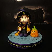 Trick Or Treat - Little Witch Halloween Cake Topper A fondant and gumpaste, Halloween cake topper made as the subject of a class I am teaching.