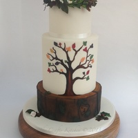 Autumn Wedding Cake This cake was made for a bride who requested an Autumn themed cake for her October wedding. The inspiration came from her wedding...
