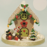 Christmas Birdhouse Topper I made a little cake for the christmas fayre a few weeks ago and made a little birdhouse and loved doing it so I made another one for a...