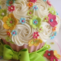 Bright Giant Cupcake