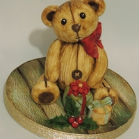 Vintage Teddy Christmas Topper Made this for a tutorial this year, fell in love with this little guy